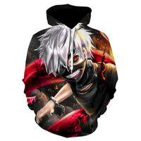 Men's Hoodies & Sweatshirts Moletom Estampado Tokyo Ghoul 3d Ken Kaneki, Novo Branco Com Capuz, Anime Japones, Mais Vendidos, 2021