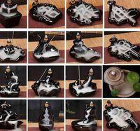 Ceramic Glaze Waterfall Backflow Censer Holder Home decor 24 Style Incense Cones Burner Stick KKA8036IWN5 D8YW