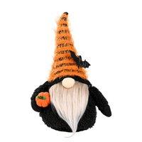 Party Supplies Halloween Dekoration Gesichtslos Gnome Holding Kürbis Handgemachte Plüsch Puppe Figuren Urlaub Requisiten Ornamente XBJK2107