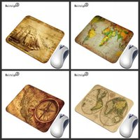Mouse Pads & Wrist Rests Mairuige Ancient Yellow Game Map Print 220X180 290X250MM Custom Pad Computer Peripherals Non-slip Rubber Bottom Mat