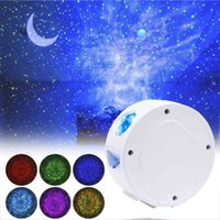 ZK50 Starry Sky Projector Star Night Light Upgraded Smart WIFI Ocean Waving Lights Moon Starry Romantic Projectio Lamp for Gifts C0414