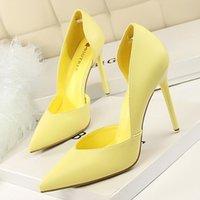 BigTree Bombas Sexy High Stiletto Nuevas mujeres Tacones delgados Party Señoras Zapatos de boda 210409