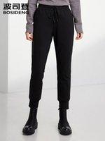 Calças femininas Capris Bosideng Inverno Quente Soft Down Windproof Outdoor Sports Fashion Calças B90141066