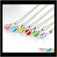 Pendants Arts, Crafts Home & Gardenlocket Aromatherapy Essential Oil Diffuser Charm Pendant Necklace For Women Fashion Jewlry Party Gifts Ae