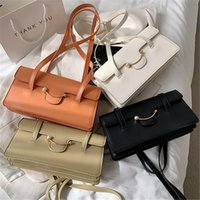 Cross Body 2021 Fashion Shoulder Bags For Women Baguette Leather Totes Handbags Designer Top Handle Underarm Makeup Bag