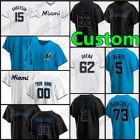 15 Brian Anderson Miami Custom 22 Sandy Alcant Jerseys Marlins 5 Jon Berti Baseball 23 Corey Dickerson Jose Fernandez Giancarlo Stanton