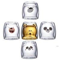 Cute Christmas Tree Mug Double Wall Glass Coffee Cups with Silocone Lid Snowflake Star Xmas Gift Wine Tea Milk Water Tumbler FWB7526