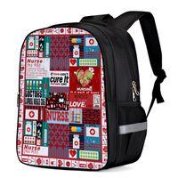 School Bags Cartoon Plaid Healthcare Backpack Kids Men Women Travel Backpacks For Teenage Girls Boys