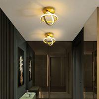 Ceiling Lights Led Bedroom Aisle Living Room Kitchen Studyroom Surface Mounted Aluminum Indoor Home Lamps For Ac90-260V Gold Lig