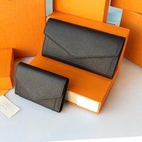 Wallets neutral mens and womens high-grade leather wallet new silver metal envelope bag folding wallet large capacity handbag
