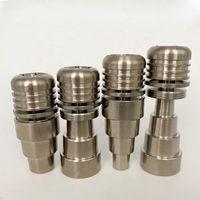 Zigarettenringrohre 14mm19mm 4 in 1 domeless-spiralförmiger Titan-Nagel mit männlicher und weiblicher Verbindung. wirklich bequem