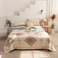 Blankets 2021 Bohemian Style Cotton Four-layer Gauze Towel Quilt Sofa Air Conditioning Nap Leisure Blanket