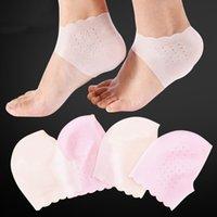 Ayakları için Silikon Topuk Koruyucu Tedavi Jel Bardak Hielspoor Penny Topuklu Plantar Fasiit Tabanlık Silico Çorap