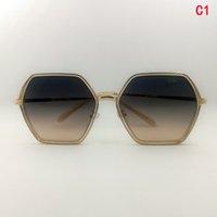 Venta al por mayor Sencillez Tendencia Versión coreana Diseñador de moda Gafas de sol Sunglass de metal cuadrado Metal Vista trasera Drive Enviar caja de gafas