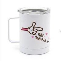 Creatieve 10oz DIY Blanks Sublimatie Koffie Bekers met Handvat Draagbare Dubbele Muur Roestvrijstalen Water Car Cups HWB9414