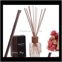 Sachet Taschen Düfte Dekor Hausgarten Drop Lieferung 2021 Großhandel - 200ml Große Volumen Diffusor Reed Sticks Sets Öl Essential Lavendel /