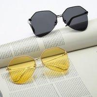 Neue koreanische trend frauen sonnenbrille retro metall ozean linse sonnenbrille für männer und frauen oloey marke antreibend übergroße uv400 oculos