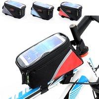 3 색 사이클링 자전거 전면 프레임 Pannier 튜브 가방 방수 휴대 전화 파우치 홀더 산악 자전거 MTB 가방 935 Z2