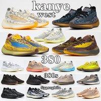 kanye west x yeezy boost 380 shoes En Kaliteli Orijinaller Hylte Glow Koşu Ayakkabıları Covilette West 380s Adam Mans Alien Mist 3 M Yansıtıcı Kalsit Mavi Yulaf Yekoraite Sneakers