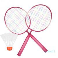 Niños niños bádminton raqueta raqueta de raqueta Setlocock Set Aleación Badminton Raqueta Práctica Transporte Transporte de peso ligero con bolas