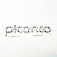 New Fit For Picanto Word Chrome ABS 3D Letter Badge Rear Trunk Emblem With Adhesive Logo Sticker Icon