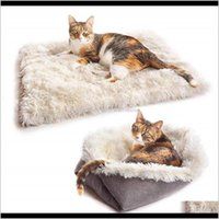 Kennels Pens Supplies Home Garden 2 In 1 Foldable Soft Plush Puppy Kennel Pet Dogs House Nest Dog Blanket Cover Cat Warm Sleeping Bed