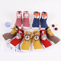 Toddler Baby Knitted Leopard Floor Socks Shoes with Rubber Soles Infant Anti-slip Indoor Socks born Spring Summer Autumn