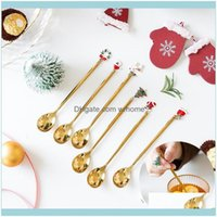 Christmas Festive Party Supplies & Gardenchristmas Decorations Year Decor Gold Sier Spoon For Home Deco Decoration Xmas Gifts Natal Drop Del