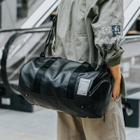 Duffel Bags Waterproof Travel Shoulder Bag Clothe Shoes Organizer Men Large Capacity PU Leather Luggage Sport Unise Duffels X108C