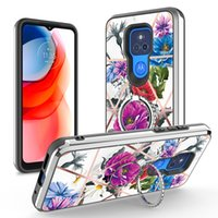 Hybrid Armor Heavy Duty Metal Ring Stand Magnetic Shockproof Cases For iPhone 12 11 Pro XR XS Max X 8 Samsung A12 A52 A72 MOTO G Stylus Power Play 2021 LG Stylo 6 K51 K31 K22