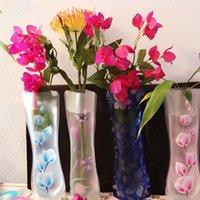 New 27.4 X 11.7cm Unbreakable Foldable Reusable Plastic Flower Vase Random Color