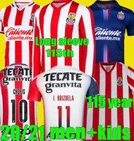 ريترو 2008 110th 115 سنة 2021 2022 شيفاس لكرة القدم الفانيلة Aniversario 21 22 ديبورتيفو غوادالاخارا E.Lopez A.VEGA لكرة القدم قميص
