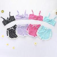 Clothing Sets 1-5Y Toddler Kids Baby Girls Polka Dot Clothes Tracksuits Vest Crop Top +Shorts 2Pcs Summer Set