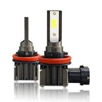 Faros de coche 2pcs LED bombillas LED COB H1 H11 H7 H4 9005 9006 Faros de faro HI Lo Beam 6000K Lámpara de niebla de alambre blanco 6000K