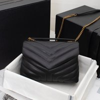 5A + 디자이너 가방 숄더 백 숙녀 럭셔리 크로스 바디 골드 및 슬리버 체인 패션 정품 가죽 원래 상자 크기 32 25cm와 고용량 다중 스타일