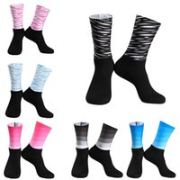Sport Anti Slip Silicone Seamless Integral Moulding High-tech Cycling Socks Breathable Road Bicycle Bike Racing Socks