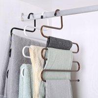 Hangers & Racks S-Type Magic Multi-Layer Non-Slip Pants Hanger Wardrobe Storage Hook Multifunctional Women Home Clothes Organizer