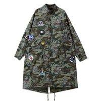 Sherhure 2021 Patches Camouflage Print Beveriber Bomber Feminino Женщины Длинные Осенние Куртки Пальто Casaco Женщины