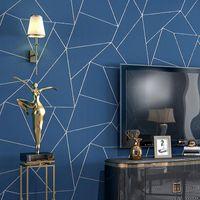 Wallpapers Dark Grey|White|Black Simple Geometric Wallpaper Roll Modern Design Wall Paper Home Decor Bedroom Living Room Background