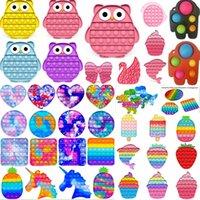 Fast Shipping Desktop Divertimento Gelato Push Bubble Fidget Toy Autism Needs Needs Stress Reliever It Squeeze Giocattolo sensoriale per bambini Famiglia riutilizzabile