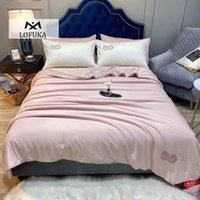 المعزون مجموعات lofuka النساء الوردي أعلى درجة 100٪ الحرير الطبيعي لحاف لحاف ملء للصيف الشتاء الملكة الملك المنسوجات المنزلية