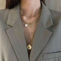 Steel Hip Hop Stacked Necklace Women's Fashion Design Sense Clavicle Chain Cold Neck WGR357