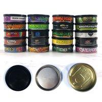 Garrafas de armazenamento frascos latas de estanho lata de estanho etiqueta circular cannabis tabaco doces 20 estilos 3,5 g