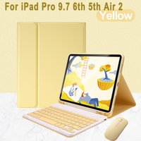 Keyboard Case for Apple iPad 9.7 2018 6 6th 2017 5 5th Air 2 Pro 9.7 with Pen Slot Bluetooth Mouse Detachable Magnetic