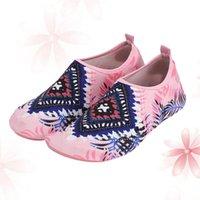 Pares elegantes sapatos de água Praia de moda rápida para natação ao ar livre Condução de exercícios de ressaca (rosa diamante, meias esportivas