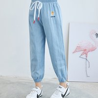 Kids Casual Children Jeans Summer Fashion Baby Soft Cotton Denim Pants Sportsjeans For Boys Girls A3820