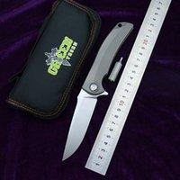 Green Thorn Overkill Titanium Alliage Poignée D2 Acier Couteau pliant en acier d'extérieur Camping de survie Cuisine Multifonction F95 F3 F111 F1EDC Outil