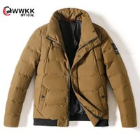 Wwkk 2020 giacca invernale da uomo qualità cappotto spessore termico neve parka maschio caldo outwear moda - bianco anatra giù uomini