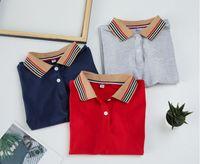 Summer Enfants Designer T-shirts Fashion Garçon Stripe Plache Coton à manches courtes T-shirt Enfants Casual Tops Tops Vêtements S1185
