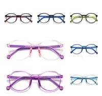 2021 Children Vision Care 2231 Optical TR90 Glass Men's and Women's Flat Soczewki Okrągły Moda Goggl Oko